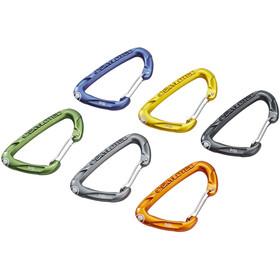 Skylotec Flint Wire Carabiner Set 6 Pieces multicolour